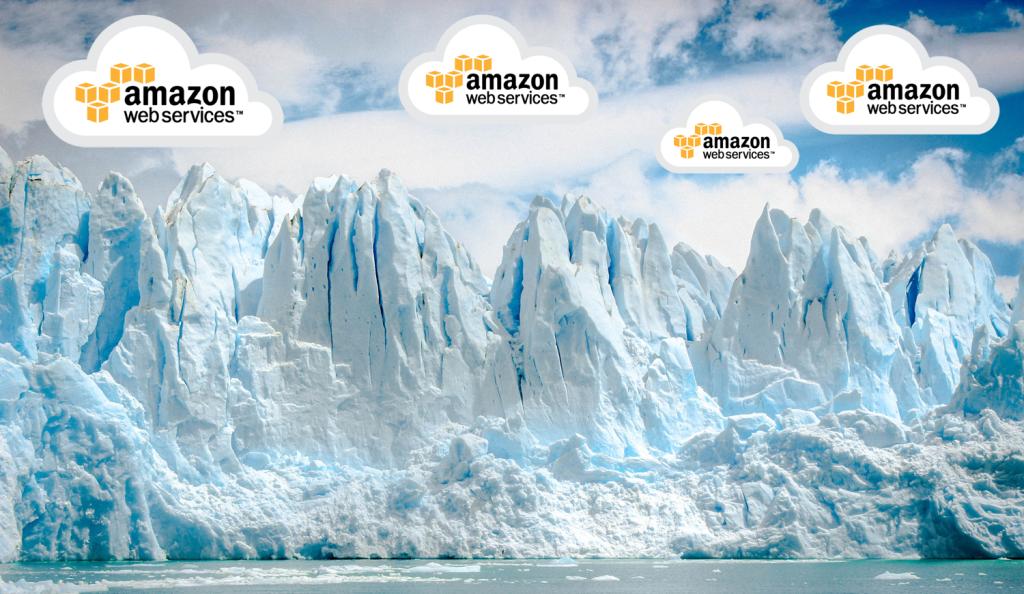 Glacier with Amazon Web Services logo
